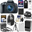 Canon - EOS Rebel T5i Camera+EF-S Lens+64GB Card+Batt+Charger+Backpack+Tele/Wide Lenses+Filters+Tripod - Black