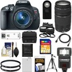 Canon - EOS Rebel T5i Camera+EF-S Lens+EF 75-300 III Lens+32GB Card+Battery+Case+Flash+2 Lenses+Tripod - Black