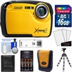 Coleman - Xtreme2 C12WP Shock+Waterproof Camera+HD Video +16GB Card+Case+Batteries+Charger+Flex Tripod+Acc Kit - Yellow