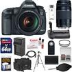 Canon - EOS 5D Mark III Camera+EF Lens+75-300 III Lens+64GB Card+Grip+Battery+Charger+Case+Tripod+Kit - Black