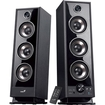 Genius - 2.0 60 W Home Audio Speaker System - Pack of 2 - Black