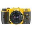 Pentax - 12.4 Megapixel Mirrorless Camera (Body with Lens Kit) - 5 mm-15 mm Lens - Yellow