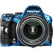 Pentax - 16 Megapixel Digital SLR Camera (Body with Lens Kit) - 18 mm-55 mm and 55 mm-300 mm Lens - Crystal Blue - Crystal Blue