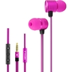 AGPtek - 3.5mm Jack Wire Metal Stereo Phone Earphones Headphones Earbuds Only For iPhone 5S 5 4 4S iPad - Pink
