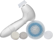 Spa Sonic - Skin Care System Face and Body Polisher 7-Piece Professional Kit - White