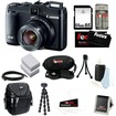 Canon - PowerShot Bundle PowerShot G16 12.1 MP CMOS Digital Camera with 5x Optical Zoom and 1080p Full-HD Video