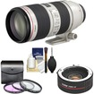 Canon - EF 70-200mm f/2.8 L IS II USM Zoom Lens with 2x Teleconverter+3 (UV/FLD/CPL) Filters+Cleaning Kit