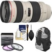 Canon - EF 70-200mm f/2.8L USM Zoom Lens with 3 UV/FLD/CPL Filters + Backpack + Cleaning Kit