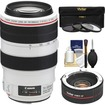 Canon - EF 70-300mm f/4-5.6 L IS USM Zoom Lens with 2x Teleconverter + 3 UV/ND8/CPL Filters + Cleaning Kit