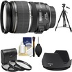 Canon - EF-S 17-55mm f/2.8 IS USM Zoom Lens with 3 UV/CPL/ND8 Filters + Lens Hood + Tripod + Cleaning Kit