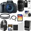 Canon - EOS Rebel T5i Camera+EF-S 18-135 IS STM Lens+EF-S 55-250 IS Lens+32GB Card+Batt+Backpack+Filters+Acc - Black