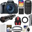 Canon - EOS Rebel T5i Camera+EF-S Lens+EF 75-300 III+500 Lenses+32GB Card+Batt+Backpack+Monopod - Black