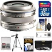 Olympus - M.Zuiko 17mm f/1.8 Digital Lens with 32GB Card + Tripod + 3 UV/ND8/PL Filters + Acc Kit - Silver
