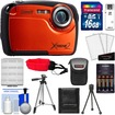 Coleman - Xtreme2 C12WP Shock+Waterproof Camera+HD Video Orange+16GB Card+Case+Batteries+Chrgr+2 Tripods+Acc - Orange