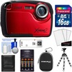 Coleman - Xtreme2 C12WP Shock+Waterproof Camera+HD Video Red+16GB Card+Case+Batteries+Chrgr+Flex Tripod+Acc - Red