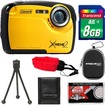 Coleman - Xtreme2 C12WP Shock+Waterproof Digital Camera with HD Video with 8GB Card+Case+Tripod+Acc Kit - Yellow