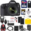 Canon - EOS 5D Mark III Camera+EF 24-70 Lens+64GB+Batteries+Chrgr+Backpack+Flash+Grip+3 Filters - Black