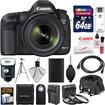 Canon - EOS 5D Mark III Camera+EF 24-70 Lens+64GB+Case+320EX LED Flash+Batt+Chrgr+Tripod+Filter - Black