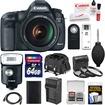 Canon - EOS 5D Mark III Camera+EF 24-105 L IS USM Lens+320EX Flash/Video Light+64GB Card+Case+Batt+Chrgr Kit - Black