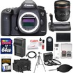 Canon - EOS 5D Mark III DSLR Camera+EF 24-70mm f/4.0L IS USM Lens+64GB Card+Grip+Batt+Chrgr+Case+Tripod Kit - Black