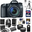 Canon - EOS 70D Camera+EF-S 18-135 IS STM Lens+64GB Card+Batt+Chrgr+Backpack+3 Filters+Tripod+Tele/Wide Lens - Black