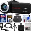 JVC - Everio GZ-R10 Quad Proof Full HD Digital Video Camera Black w/ 32GB Card+Case+LED Light+Tripod+Kit - Black
