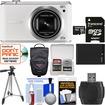 Samsung - WB350 Smart Wi-Fi Digital Camera with 32GB Card + Case + Battery + Tripod + Kit - White