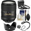 Nikon - 18-300mm f/3.5-6.3G VR DX ED AF-S Nikkor-Zoom Lens with 3 UV/CPL/ND8 Filters + Hood + Accessory Kit - Black