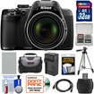 Nikon - Coolpix P530 Digital Camera (Black) with 32GB Card+Battery+Charger+Case+Tripod+Accessory Kit - Black