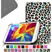 Fintie - Smart Shell Case Leather Cover For Samsung Galaxy Tab 4 7.0 inch Tablet - Rainbow Leopard