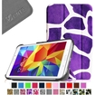 Fintie - Smart Shell Case Leather Cover For Samsung Galaxy Tab 4 7.0 inch Tablet - Purple Graffiti