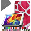 Fintie - Smart Shell Case Leather Cover For Samsung Galaxy Tab 4 7.0 inch Tablet - Pink Graffiti