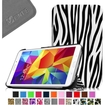 Fintie - Smart Shell Case Leather Cover For Samsung Galaxy Tab 4 7.0 inch Tablet - Zebra Print