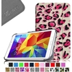 Fintie - Smart Shell Case Leather Cover For Samsung Galaxy Tab 4 7.0 inch Tablet - Pink Leopard