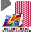 Fintie - Smart Shell Case Leather Cover For Samsung Galaxy Tab 4 7.0 inch Tablet - Pink Polk Dots