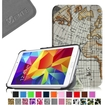 Fintie - Smart Shell Case Leather Cover For Samsung Galaxy Tab 4 7.0 inch Tablet - Map Print