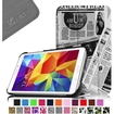 Fintie - Smart Shell Case Leather Cover For Samsung Galaxy Tab 4 7.0 inch Tablet - Newspaper Print