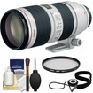 Canon - EF 70-200mm f/2.8 L IS II USM Zoom Lens with UV Filter + Accessory Kit - White