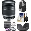 Canon - EF-S 18-200mm f/3.5-5.6 IS Zoom Lens with Case + 3 UV/FLD/CPL Filters + Hood + Accessory Kit