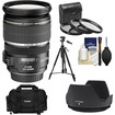 Canon - EF-S 17-55mm f/2.8 IS USM Zoom Lens with Case + 3 UV/CPL/ND8 Filters + Hood + Tripod + Cleaning Kit