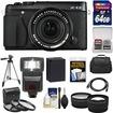 Fujifilm - X-E2 Digital Camera+18-55mm XF Lens (Black) with 64GB Card+Battery+Case+Tripod+Flash+Tele/Wide Lens - Black