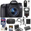 Canon - EOS 70D Camera+EF-S 18-55 IS STM Lens+64GB Card+Battery+Case+3 UV/CPL/ND8 Filters+Flash+Tripod+Acc