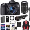 Canon - EOS 70D Digital SLR Camera+EF-S 18-55mm IS STM Lens+55-250mm+500mm Lenses+32GB Card+Battery+Backpack