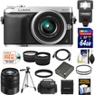 Panasonic - Lumix DMC-GX7 Camera+14-42 Lens+45-150 Lens+64GB Card+Batt+Case+Flash+Tripod+Tele/ Wide Lens Kit