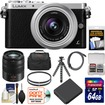 Panasonic - Lumix DMC-GM1 Micro Four Thirds Camera+12-32mm Lens+45-150mm Lens+64GB Card+Battery+Case+Filters