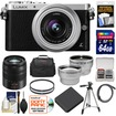 Panasonic - Lumix DMC-GM1 Camera+12-32 Lens+45-150 Lens+64GB Card+Batt+Case+Filters+Tripod+Tele+Wide Lens Kit