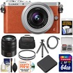 Panasonic - Lumix DMC-GM1 Micro Four Thirds Camera+12-32 Lens Orange+45-150 Lens+64GB Card+Batt+Case+Filters - Orange