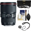 Canon - EF 16-35mm f/4L IS USM Zoom Lens with UV/CPL/ND8 Filters + Kit