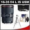 Canon - Bundle EF 16-35mm f/4L IS USM Zoom Lens