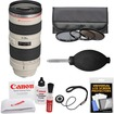 Canon - EF 70-200mm f/2.8L USM Zoom Lens with 3 Hoya UV/CPL/ND8 Filters + Accessory Kit